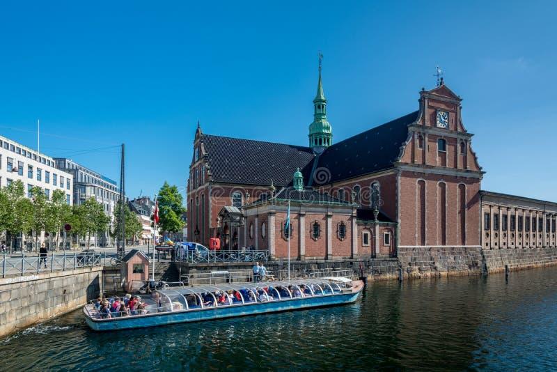 La iglesia de Holmen en Copenhague fotografía de archivo libre de regalías