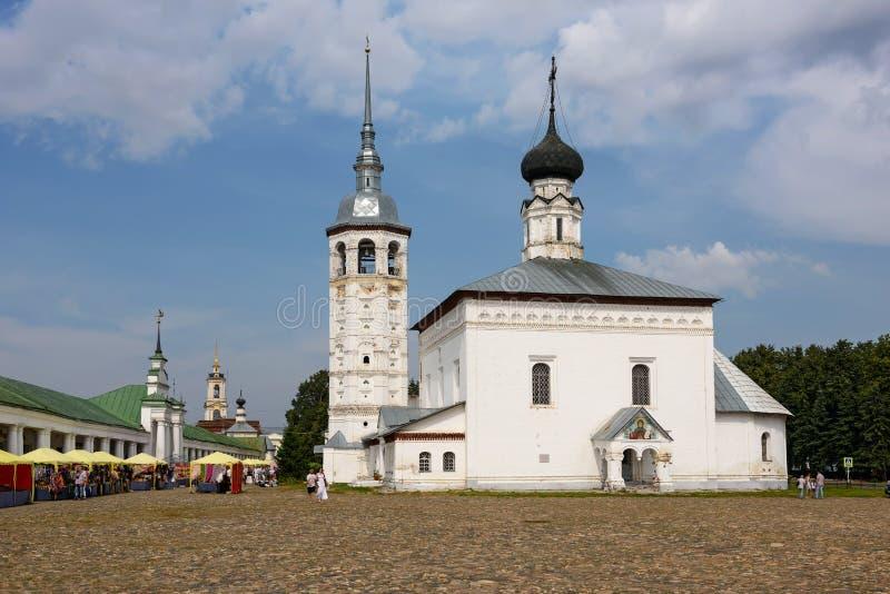 La iglesia de la iglesia de Voskresenskaya de la resurrección del ` s de Cristo Suzdal, Rusia fotografía de archivo libre de regalías