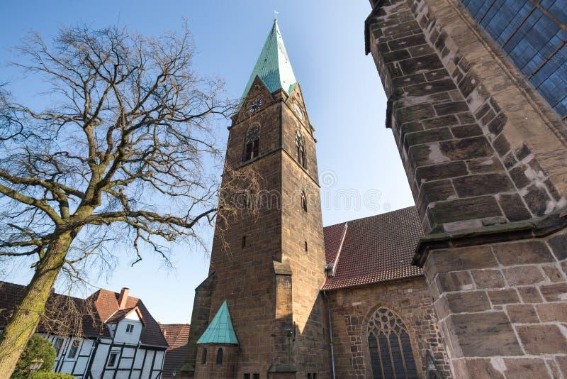 la iglesia de los simeons minden Alemania fotografía de archivo libre de regalías