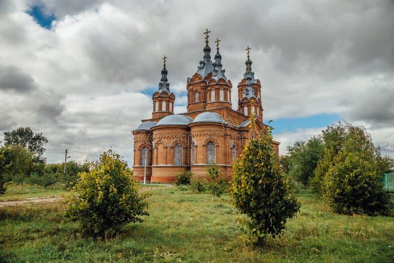 La iglesia de Michael Archangel en Mordovo, región de Tambov foto de archivo libre de regalías