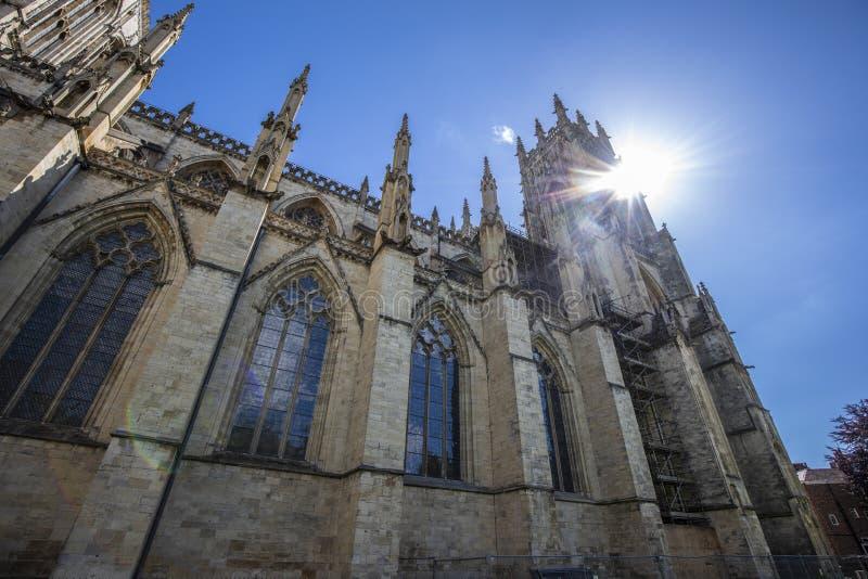 La iglesia de monasterio de York es uno de los mundos la mayoría de las catedrales magníficas imágenes de archivo libres de regalías