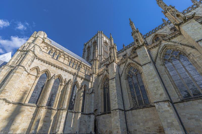 La iglesia de monasterio de York es uno de los mundos la mayoría de las catedrales magníficas foto de archivo