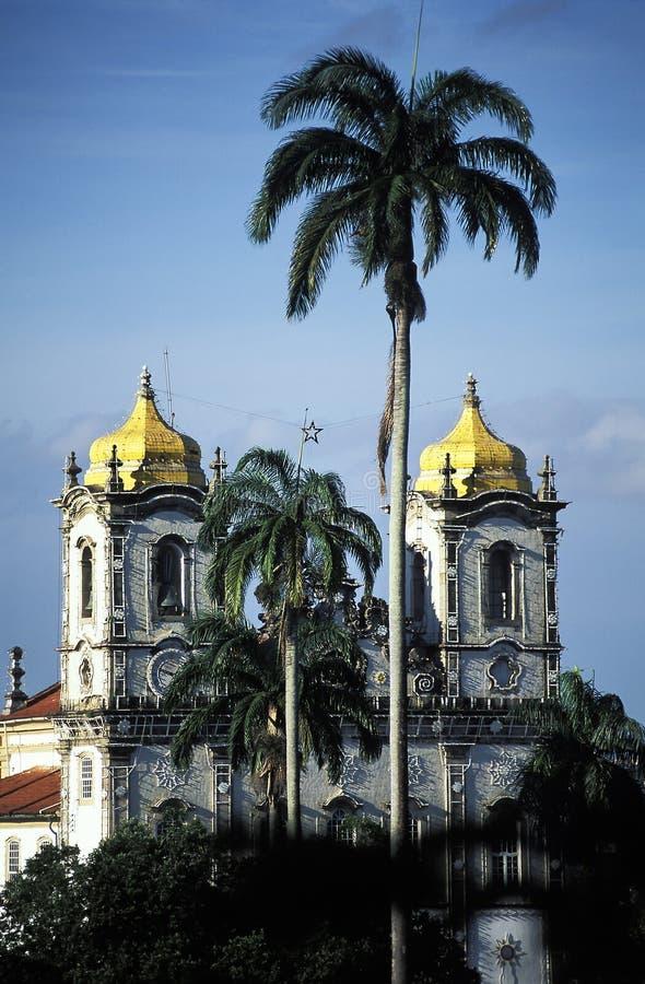 La iglesia de Nosso Senhor hace Bonfim, Salvador, el Brasil imágenes de archivo libres de regalías
