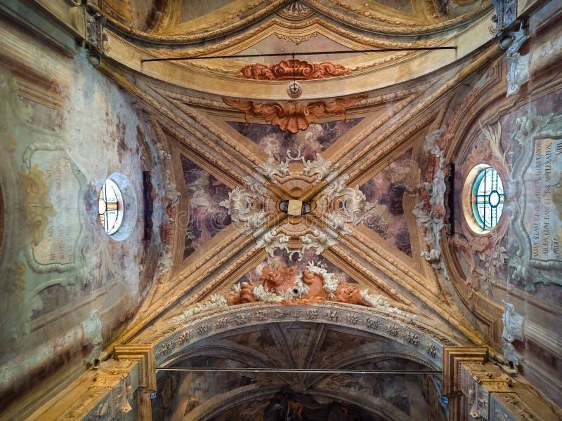 La iglesia de nuestra señora de milagros en Lonigo, Italia es un exampl fotografía de archivo libre de regalías