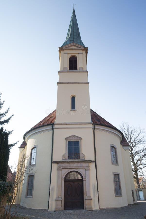 la iglesia de petri minden Alemania imagen de archivo