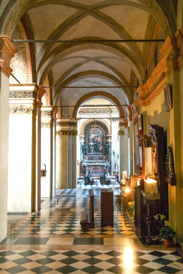 La iglesia de S Maria en S Satiro foto de archivo