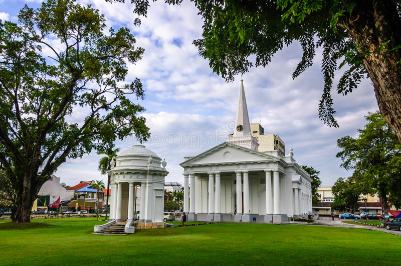 La iglesia de San Jorge, George Town, Penang, Malasia foto de archivo libre de regalías