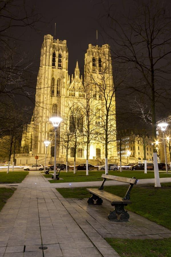 La iglesia de San Miguel en Bruselas Bélgica imágenes de archivo libres de regalías