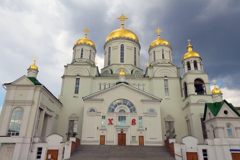 La iglesia de San Nicolás el Wonderworker (la ciudad de Nizhny imagenes de archivo