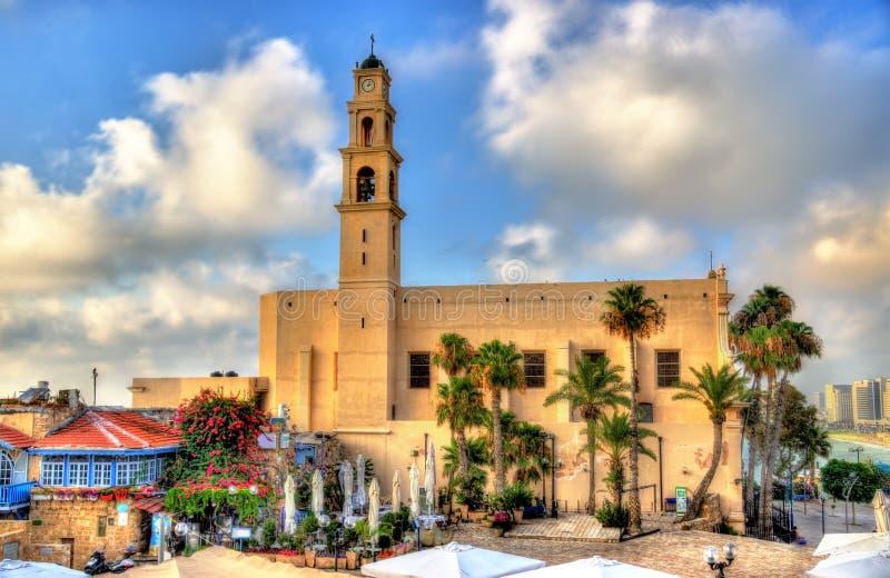 La iglesia de San Pedro en el teléfono Aviv-Jaffa foto de archivo libre de regalías