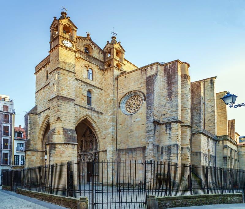 La iglesia de San Vicente, San Sebastian, fue erigida entre el décimo quinto y los siglos XVI, España fotos de archivo