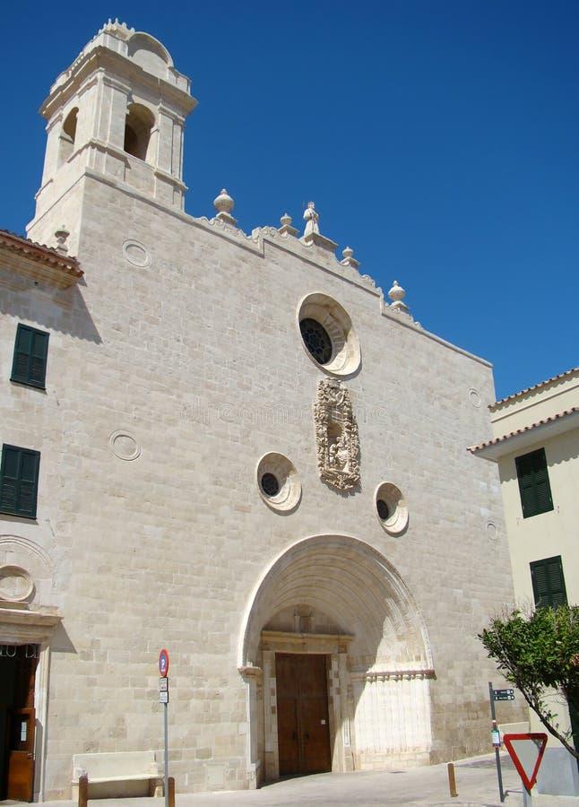 La iglesia de Sant Francesc en Mahon, Menorca imagenes de archivo
