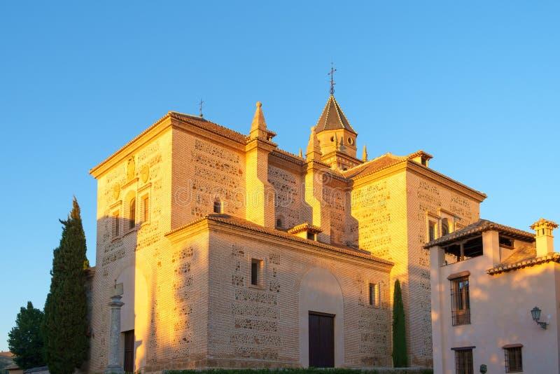 La iglesia de Santa Maria, Alhambra, Granada, España foto de archivo libre de regalías