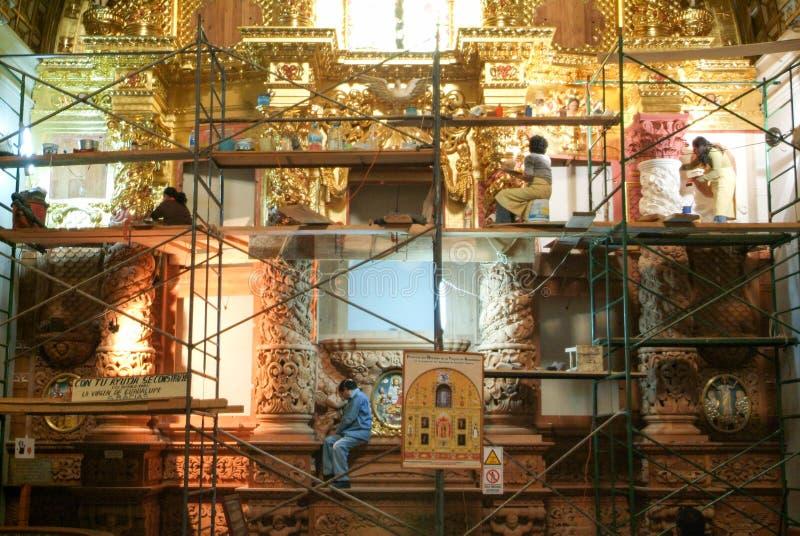 La iglesia de Santo Domingo de Guzman en Oaxaca, México imagen de archivo