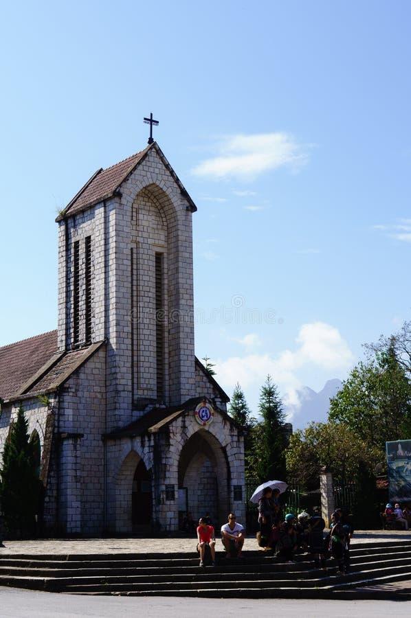 La iglesia de Sapa-Viet Nam foto de archivo libre de regalías