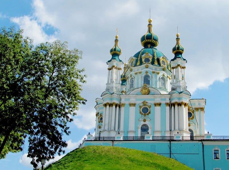 La iglesia de St Andrew, Kiev, iglesia ortodoxa fotografía de archivo