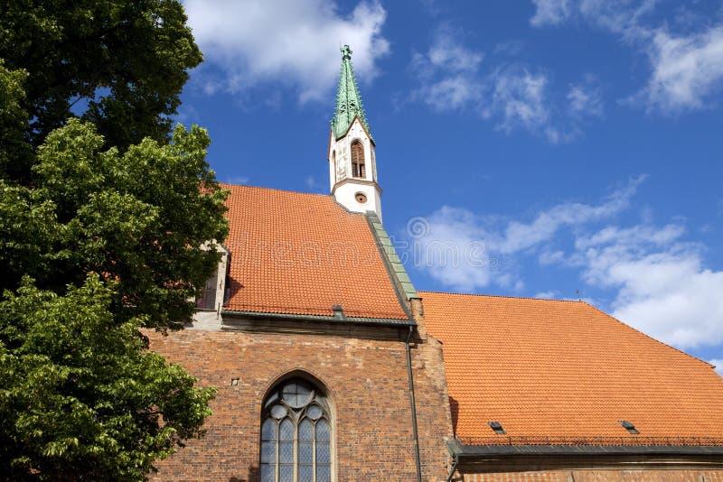 La iglesia de St John en Riga imagen de archivo libre de regalías