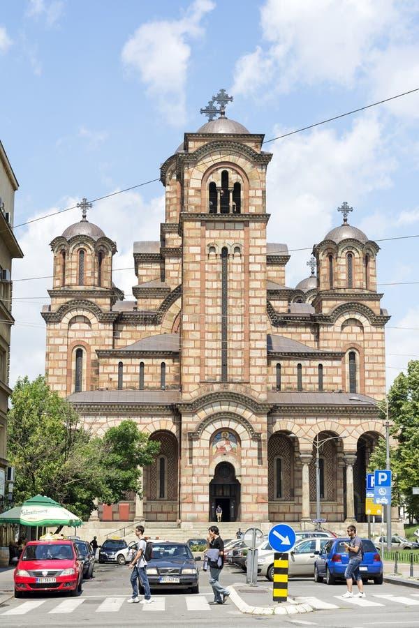 La iglesia de St Mark, Belgrad, Serbia foto de archivo