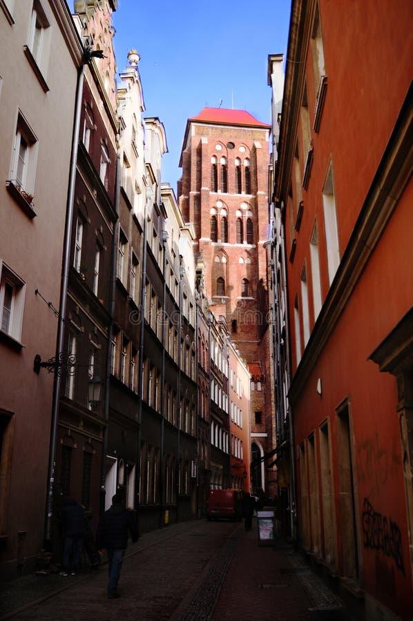 """La iglesia de St Mary, """"SK de GdaÅ fotografía de archivo"""