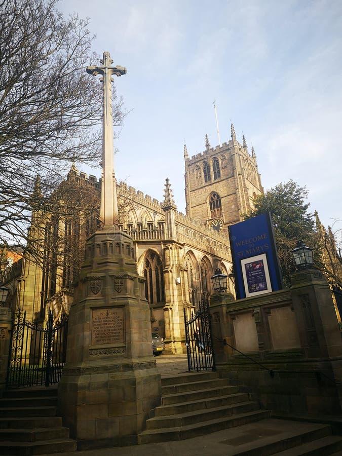 La iglesia de St Mary en Nottingham, Inglaterra imagen de archivo