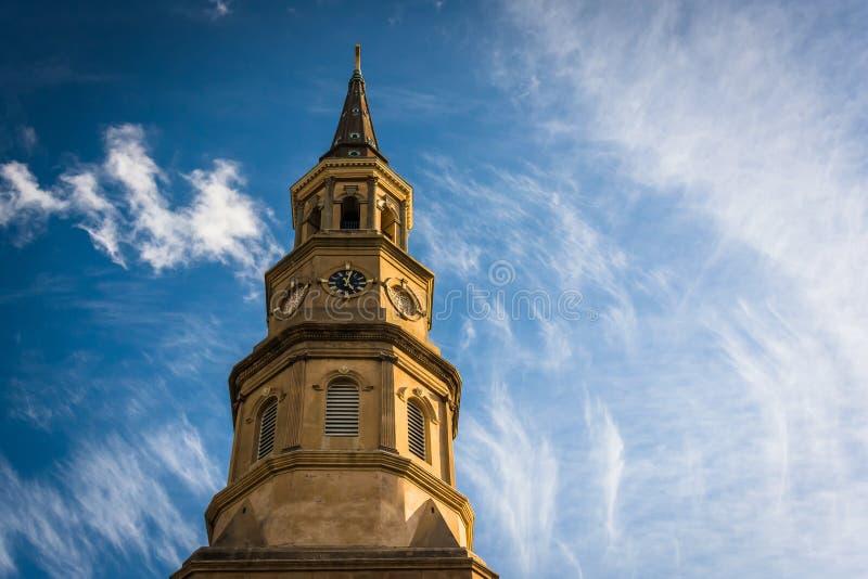 La iglesia de St Philip en Charleston, Carolina del Sur imagenes de archivo