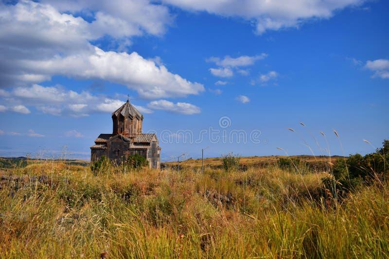 La iglesia de Vahramashen cerca de la fortaleza de Amberd foto de archivo libre de regalías