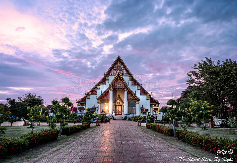 La iglesia de Wat Phra Si Sanphet imágenes de archivo libres de regalías