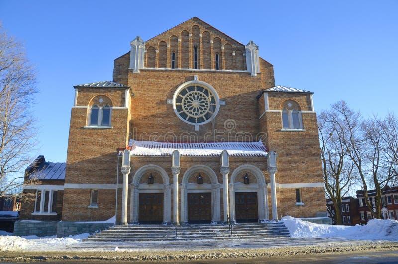La iglesia del adventist del Séptimo-día de Westmount imagen de archivo