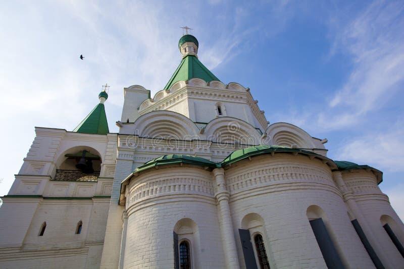 La iglesia del arcángel Mikhail fotos de archivo