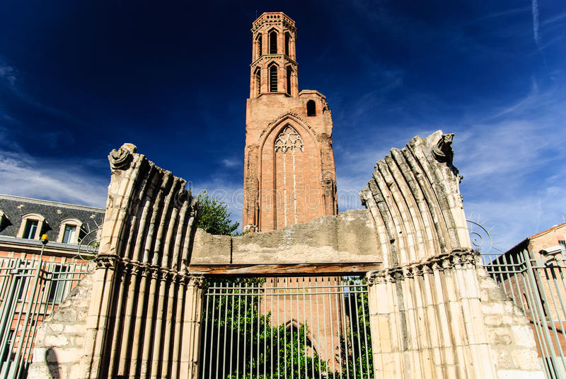 La iglesia del Cordeliers, Toulouse, Francia fotografía de archivo