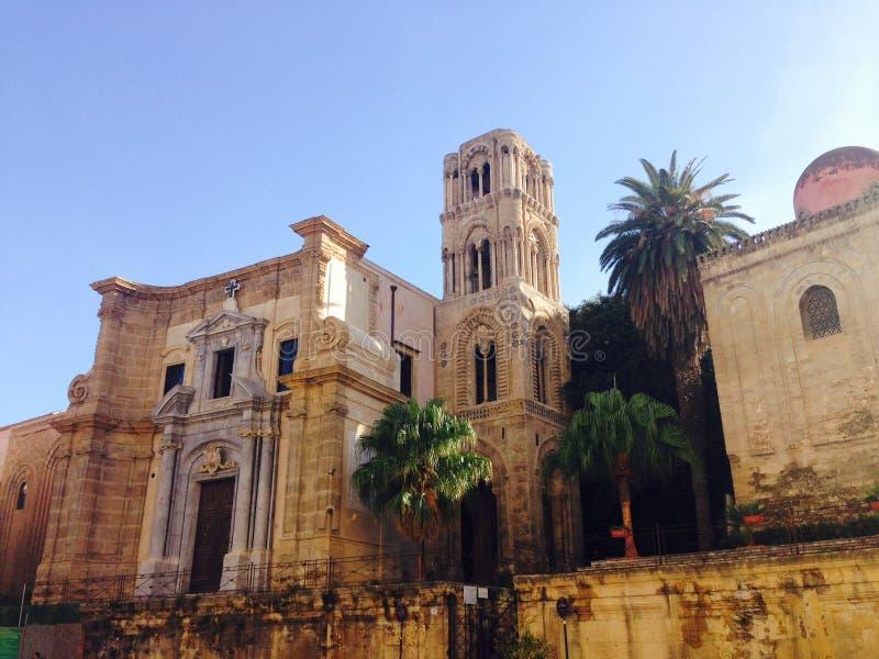 La iglesia del dell'Ammiraglio o de Martorana de Santa Maria en Palermo Sicilia fotos de archivo libres de regalías