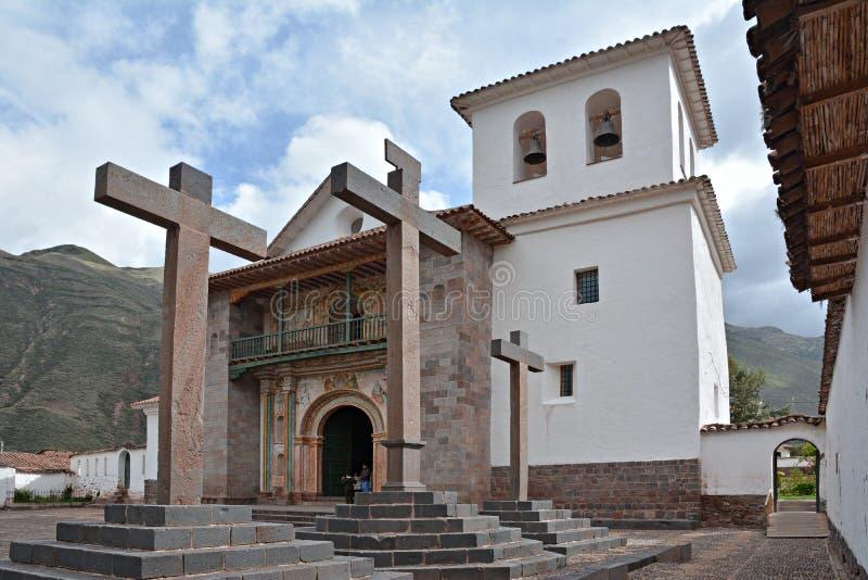 La iglesia del Peter-apóstol del santo de Andahuaylillas imágenes de archivo libres de regalías