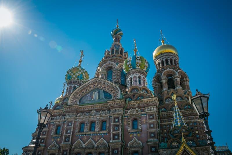 La iglesia del salvador en sangre derramada, St Petersburg, Rusia imagen de archivo