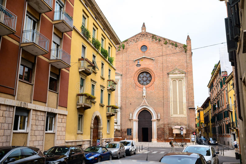La iglesia en Verona, Italia fotos de archivo libres de regalías