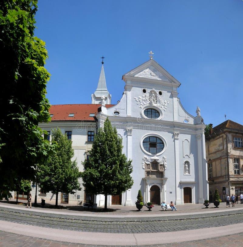 La iglesia franciscana - Kosice fotografía de archivo