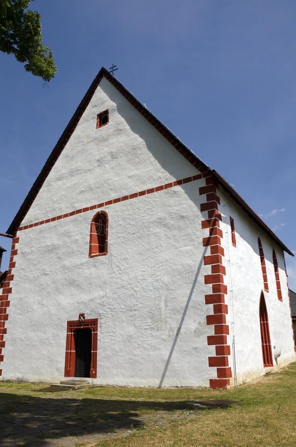 La iglesia gótica católica, Eslovaquia foto de archivo libre de regalías