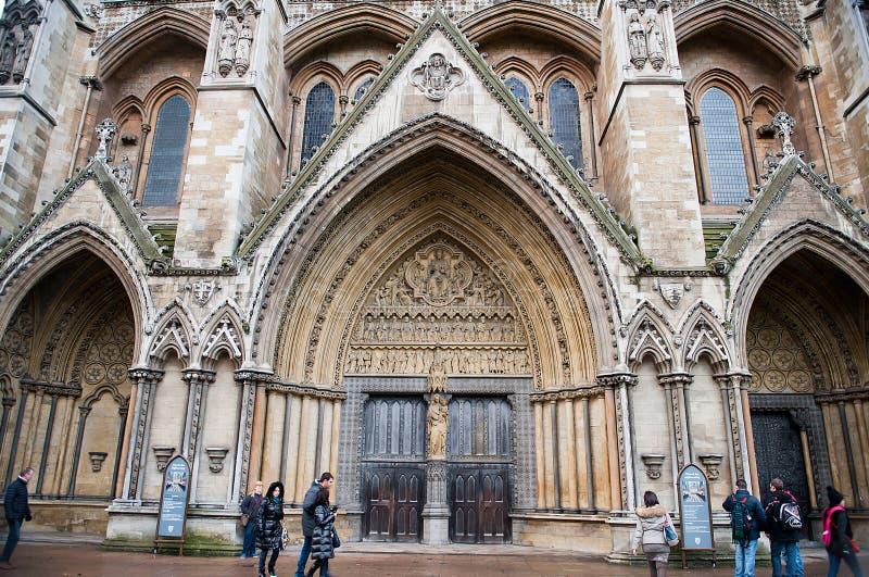 La iglesia gótica de la abadía de Westminster en Londres, Reino Unido fotografía de archivo