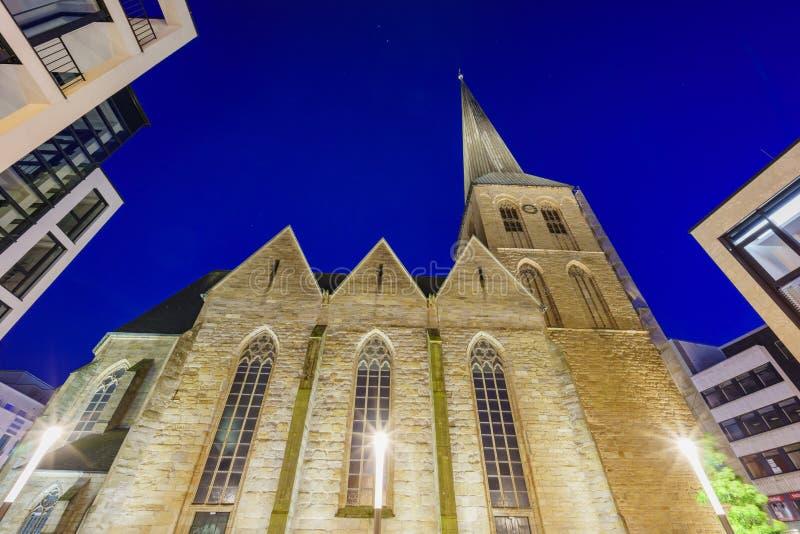 La iglesia hermosa - St-Petri-Kirche fotografía de archivo libre de regalías