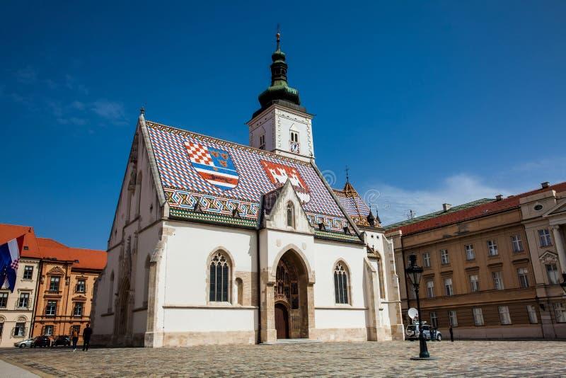 La iglesia histórica icónica de St Mark primero empleada el siglo XIII y reconstruida en la segunda mitad del 14to centur imágenes de archivo libres de regalías
