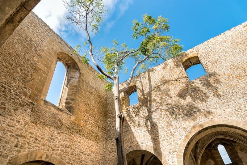 La iglesia inacabada de Spasimo del dello de Santa Maria, está situada en el distrito de Kalsa, una de las más viejas partes de P foto de archivo libre de regalías