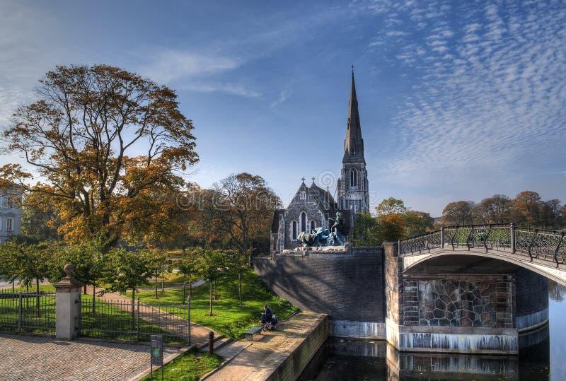 La Iglesia Inglesa En Copenhague Imágenes de archivo libres de regalías