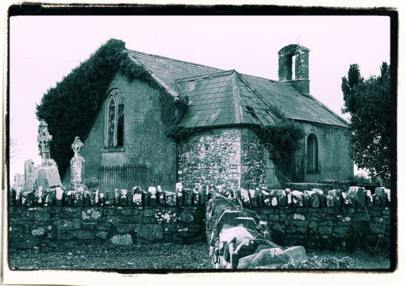 La iglesia irlandesa vieja fotografía de archivo