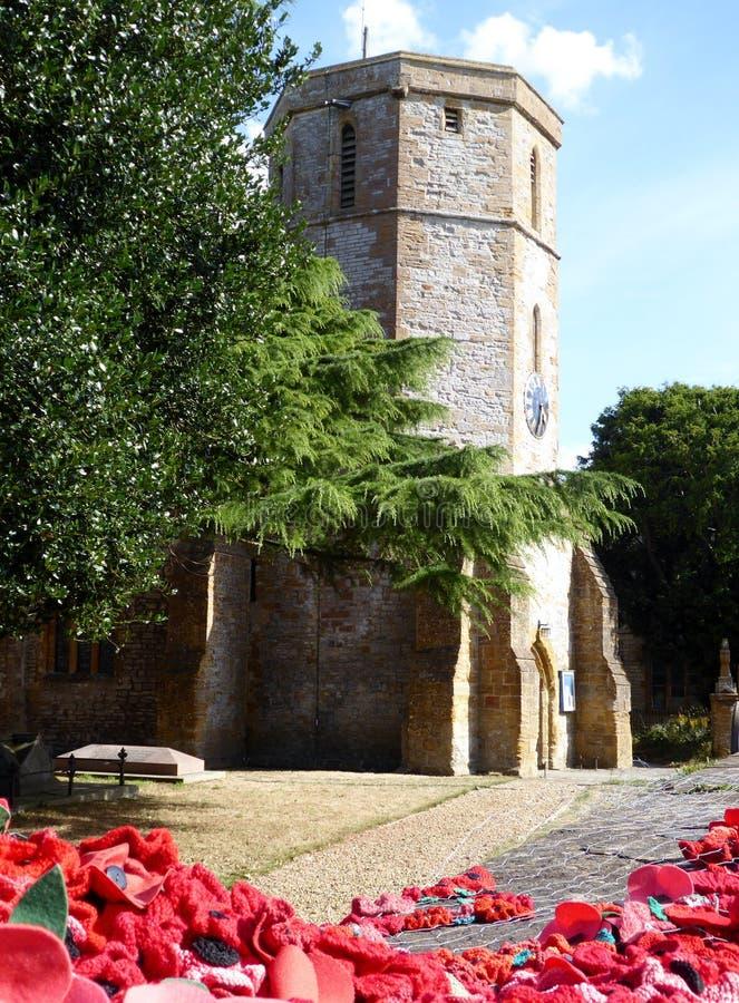 La iglesia local en el pueblo de Ilchester foto de archivo libre de regalías