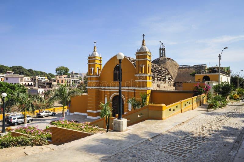 La iglesia más vieja de Lima, Perú imagen de archivo libre de regalías