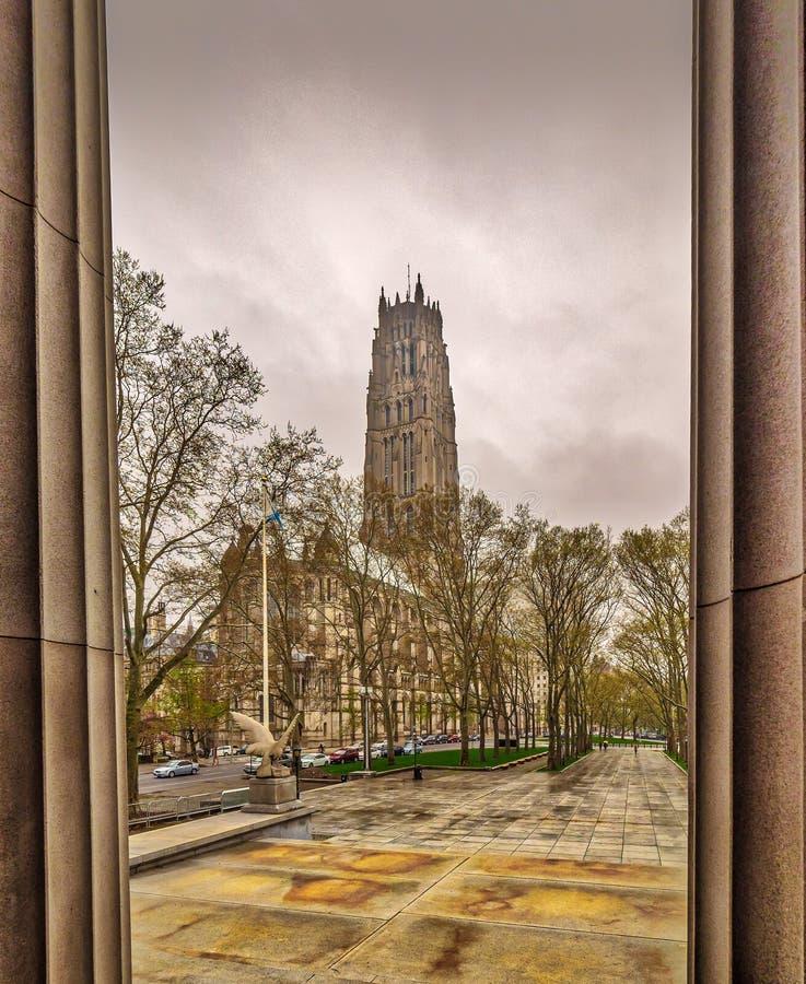 La iglesia Nueva York de la orilla imagenes de archivo