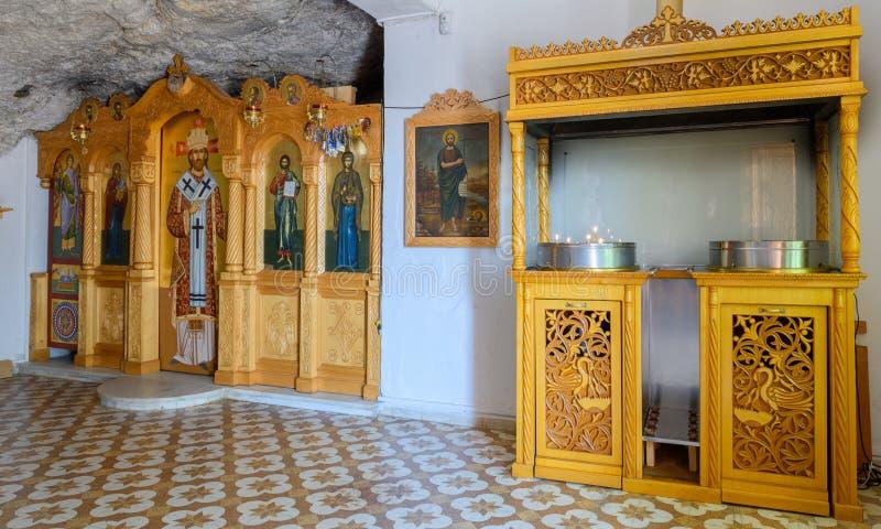 La iglesia ortodoxa en Grecia fotografía de archivo