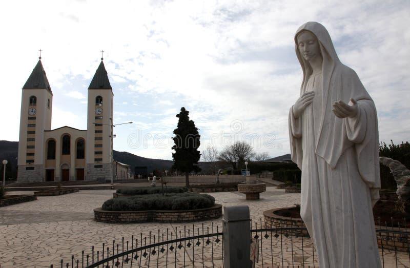 La iglesia parroquial de San Jaime, la capilla de nuestra señora de Medugorje imagen de archivo
