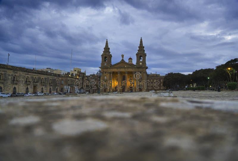 La iglesia parroquial o Floriana Parish Church de Publius del santo imagen de archivo libre de regalías