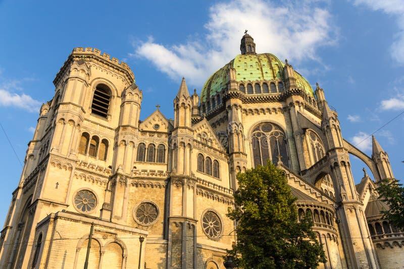La iglesia real de St Mary en Bruselas foto de archivo