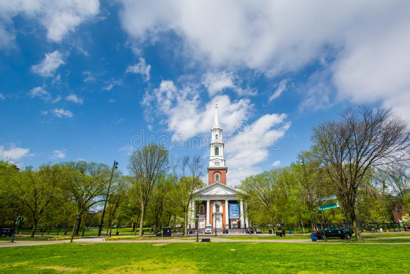La iglesia unida en el verde en New Haven, Connecticut imágenes de archivo libres de regalías